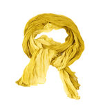 Yellow cotton scarf Royalty Free Stock Photo