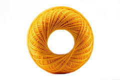 Yellow cotton spool Royalty Free Stock Photography