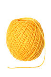 Yellow cotton thread Royalty Free Stock Images