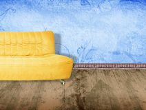 Yellow couch vector illustration