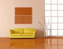 Yellow couch Royalty Free Stock Photo