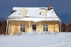 Yellow country house Stock Photos