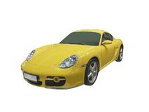 Yellow coupe Stock Photography