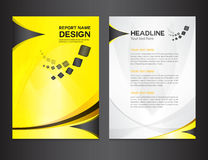 Yellow Cover Annual report design vector illustration Stock Images
