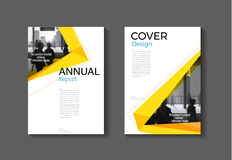 Yellow cover modern abstract cover book Brochure template, desig. N, annual report, magazine and flyer layout Vector a4 stock illustration