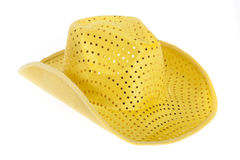 Yellow cowboy hat Stock Images