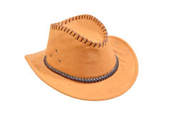 Yellow cowboy hat.Isolated. Stock Image