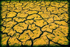 Yellow cracked ground Royalty Free Stock Photography