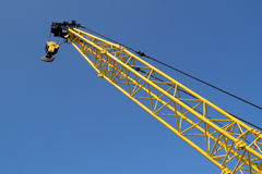A yellow crane. Royalty Free Stock Photos