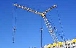 Yellow crane Royalty Free Stock Photo