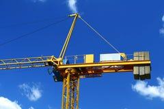 Yellow crane Royalty Free Stock Photo