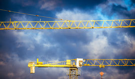 Yellow crane Royalty Free Stock Images