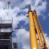 Yellow crane and blue sky Royalty Free Stock Images