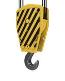 Yellow crane hook Royalty Free Stock Image