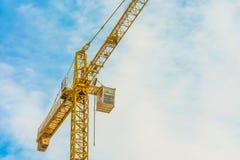 Yellow crane Stock Photo