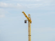 Yellow crane Royalty Free Stock Image