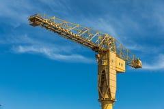 Yellow crane titan in Nantes France Royalty Free Stock Image