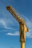 Yellow crane titan in Nantes France Stock Photo