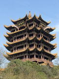 Yellow Crane Tower. Is a landmark in Wuhan city of China.The  was built in ancient China,the associated web is:http://www.at0086.com/YCT/.Place:Wuhan of China Stock Image