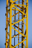 Yellow crane, tower Royalty Free Stock Photos