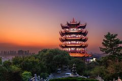 Yellow Crane Tower In Wuhan, China Royalty Free Stock Photography