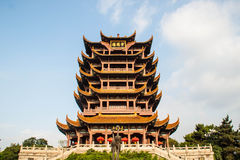 Yellow Crane Tower temple in China Royalty Free Stock Images