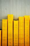 Yellow crates Royalty Free Stock Photography