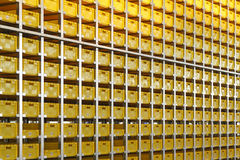 Yellow crates Royalty Free Stock Image