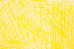 Yellow crayon doodles background texture. Yellow color crayon doodles background texture Stock Images