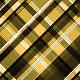Yellow cream brown and black diagonal striped patterns background. Yellow cream brown and black checked diagonal striped pattern background Stock Image