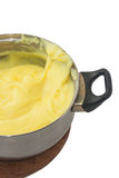 Yellow cream cakes in a bowl Royalty Free Stock Photos