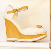 Yellow and cream sandal. Stock Images