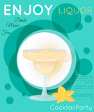 Yellow creamy cocktail in margarita glass with star fruit on gre Royalty Free Stock Images