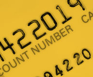 Yellow credit card Stock Image