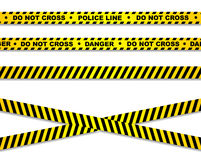 Yellow crime scene tape Stock Image