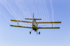 Yellow Crop Duster Stock Photo