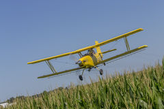 Yellow Crop Duster Stock Image