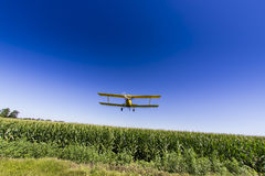 Yellow Crop Duster Royalty Free Stock Photo