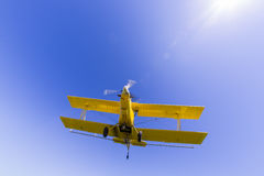 Yellow Crop Duster Royalty Free Stock Photography
