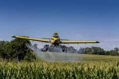 Yellow Crop Duster Royalty Free Stock Images