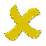 Yellow Cross Royalty Free Stock Photos