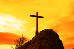Yellow cross Royalty Free Stock Photography
