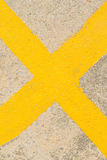 Yellow Cross On The Road Royalty Free Stock Images