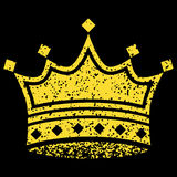 Yellow Crown. Image of a yellow crown with black background Royalty Free Stock Photo