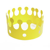 Yellow crown Royalty Free Stock Image