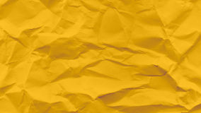 Yellow crumbled paper Stock Images