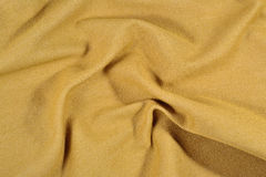 Yellow crumpled denim background Royalty Free Stock Photography