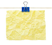 Yellow Crumpled Note Paper Royalty Free Stock Image