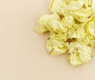 Yellow crumpled paper Royalty Free Stock Image