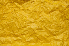 Yellow Crumpled paper background Royalty Free Stock Photos